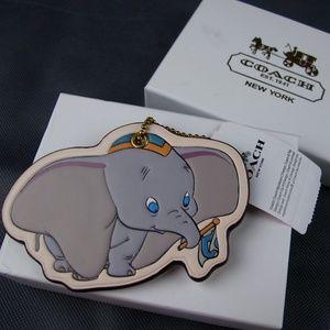 COACH x Disney Dumbo Bag Charm Key Hangtag NWT